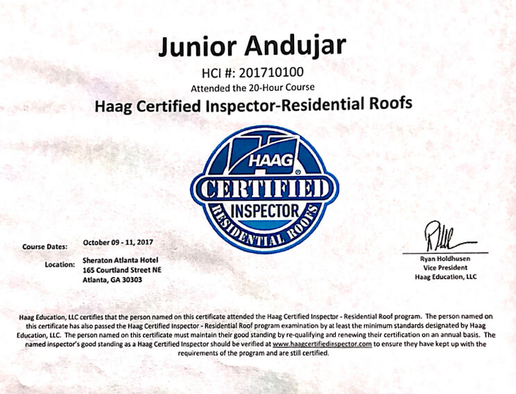 haag-certified-inspector-residential-roofs